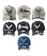 """US AIR FORCE"" Official Licensed Shield Cap Black,Blue,Camouflage, Milit... - $11.99"