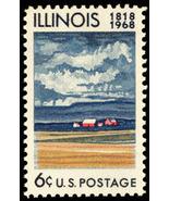 1968 6c Illinois Statehood 150th 1339 Mint F/VF NH - $20,46 MXN