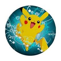 Round Ornaments - Anime Pokemon Pikachu Procelain Ornament (Round) Chris... - $3.99