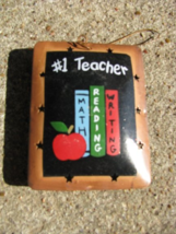 OR-336 #1 Teacher Metal Christmas Ornament  - $1.95