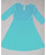 Old Navy 3/4 length sleeve stretch green scoopneck dress elastic waist w... - $27.83