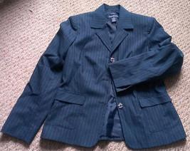 Evan-Picone women's pinstripe aqua blazer, size 10 - $13.99