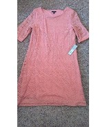 Apt. 9 Kohls lace pink lined dress/tunic boatneck womens S/M - $27.83