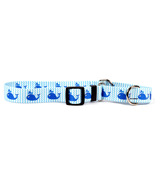 Small Sweet Lil Whales Martingale Dog Collar 14... - $10.99