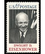 1969 6c D.D. Eisenhower Scott 1383 Mint F/VF NH - ₨63.50 INR