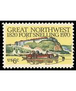 1970 6c Fort Snelling, Minnesota, Great Northwest Scott 1409 Mint F/VF NH - $0.99