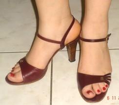Etienne Aigner's Strappy Burgundy High Heels, ... - $52.99
