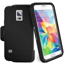 "Samsung Galaxy S5 ""Exos Armor"" Tough Case & Belt Clip (Quick-release Hol... - $12.99"