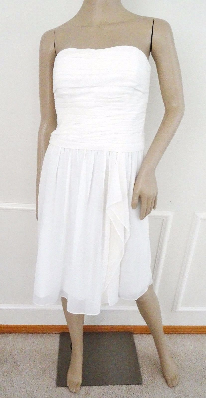 Primary image for Nwt Lauren Ralph Lauren Strapless Cocktail Semi Formal Prom Dress Sz 10 White