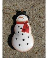 OR-344 Snowman  Metal Christmas Ornament  - $1.95