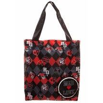 Harley Quinn Mad Love Tote Bag Black - $26.98