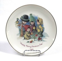 """Vintage 1983 """"Happy Merry Christmas Tree"""" Fran Mar Moppets 8.5"""" Plate by Gorham - $9.79"""
