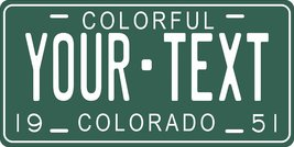 Colorado 1951 Personalized Tag Vehicle Car Auto License Plate - $16.75