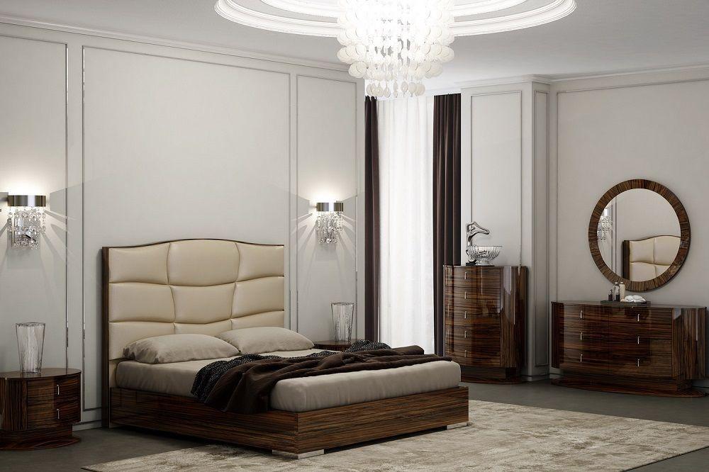 J&M Venice King Size Bedroom Set Chic Modern 2 Night Stands