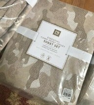 Pottery Barn Teen Camo Print Sheet Set Tan Queen Jersey Neutral Camouflage 4pc - $99.00