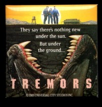 TREMORS BUTTON PIN 2 X 2 INCH  RARE - $7.95