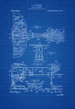 1911 Aerial Machine Patent Print - Vintage Airplane, Airplane Blueprint,... - $9.99+