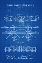 1911 Flying Machine Patent Print - Vintage Airplane, Airplane Blueprint,... - $9.99+