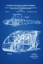 1917 Curtiss Aeroplane Patent Print - Vintage Airplane, Airplane Bluepri... - $9.99+