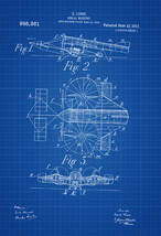 Aerial Machine Patent Print - Vintage Airplane, Airplane Blueprint, Airp... - $9.99+