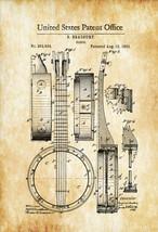 Banjo Patent 1882 - Patent Print, Wall Decor, Music Poster, Music Art, M... - $9.99+