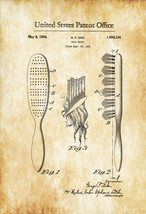 Hair Brush Patent - Vintage Hair Brush, Girls R... - $9.99 - $29.95