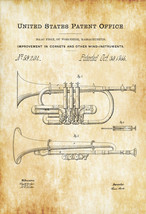 Wind Instrument Patent - Patent Print, Wall Decor, Music Poster, Music A... - $9.99+