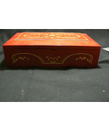 Lovely Large Red Gold Princess Marcella Borghese Jewelry Music Box - $42.07