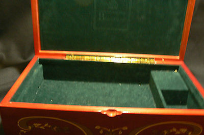 Lovely Large Red Gold Princess Marcella Borghese Jewelry Music Box