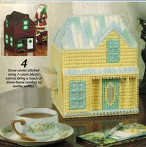 4 Plastic Canvas Country Home Tissue Top Cover Annie's Attic Patterns - $12.99