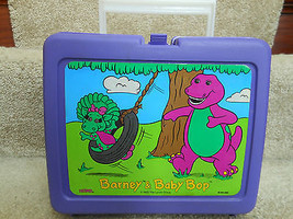 BARNEY AND BABY BOP PLASTIC LUNCH BOX GREAT FOR DISPLAY OR SANDWICH - $9.40