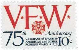 1974 10c Veterans of Foreign Wars Scott 1525 Mint F/VF NH - $0.99