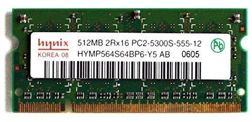 Primary image for Hynix Memory, 512MB 2RX16 PC2-5300S-555-12 HYMP564S64BP6-Y5 AB 0605