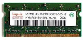 Hynix Memory, 512MB 2RX16 PC2-5300S-555-12 HYMP564S64BP6-Y5 AB 0605 - $10.28