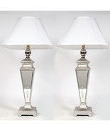 Silver Mirrored Tall Buffet Lamp,Set of Two,35''H. - $252.45