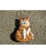 OR-330 Cat Metal Christmas Ornament  - $1.95