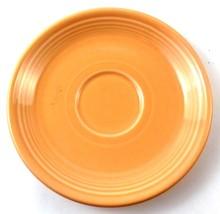 Fiestaware Homer Laughlin SAUCER Tea Cup Plate in CORAL Light Orange - $4.99