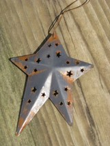 wd1382B - Blue Metal Star Christmas Ornament  - $1.95