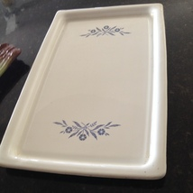 large rectangular white serving platter Corning ware oven microwave dishwasher s - $39.99