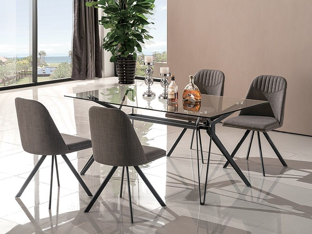 J&M Fresno Sleek Modern Dining Set Contemporary style