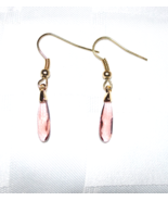 Swarovski Rose Blush Raindrop Crystal Gold Earrings - $25.00