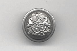 """(1) Original State Of Pennsylvania US Army Indian Wars Silvered 7/8"""" Coat Button - $4.00"""