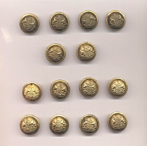 """14 Original State Of Pennsylvania US Army Indian Wars Gilded 15/16"""" Coat Buttons - $30.00"""