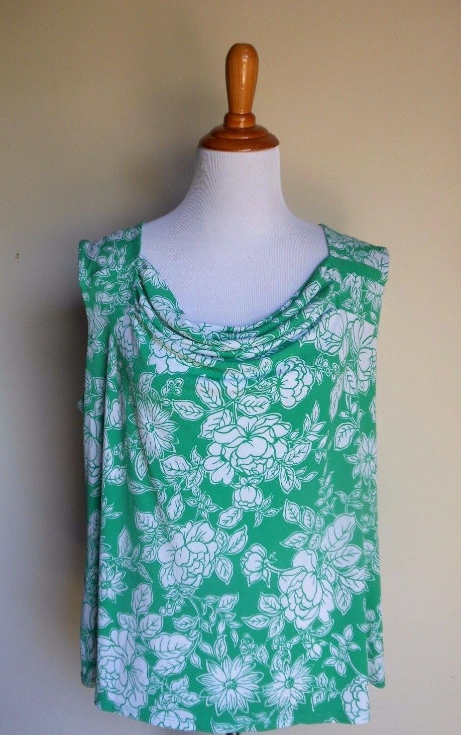 1a2fa888d20ce George ~ Xl 16 18 Kelly Green Floral Stretch and 20 similar items