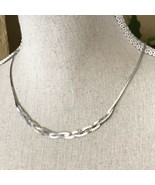 """Vintage 18"""" Sterling Silver 925 Signed SS Serpentine Link Chain Braided ... - $46.53"""