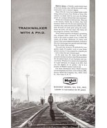 1957 Mobil Melvin Janes Trackerwalker with a PH.D print ad - $10.00