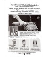 1965 General Electric portable Slicing Knife print ad - $10.00