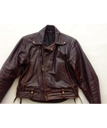 Rare 1960s Brown Motorcycle Jacket Columbia by Langlitz Leathers - $895.00