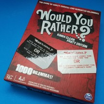 Spin Master Would You Rather...? Kinda Clean Party Edition Card Game Age 16+ - $15.00