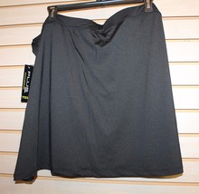 NEW WOMENS PLUS SIZE 3X 22W 24W BLACK & PINK FAUX SKIRT SKORT COMPRESSIO... - $17.41